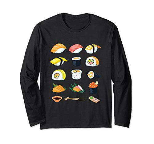 Japanese Sushi Specialty  Salmon Tuna Rolls  Long Sleeve T-Shirt (Specialty Salmon)