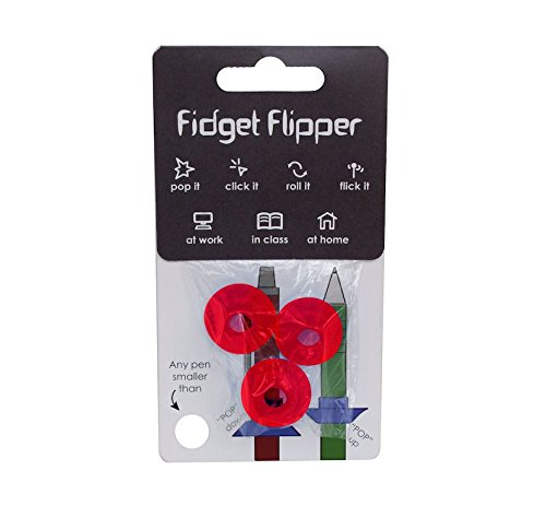 Office Products : Fidget Flipper Pencil Grip Red: the Newest and Most Versatile Fidget Gadget. Turn Any Pen or Pencil Into a Tool that Boosts Concentration, Improves Focus, and Encourages Stress Relief