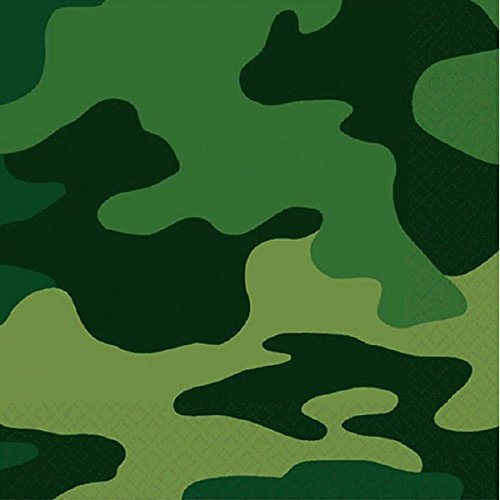 Camouflage Beverage Napkins, Party Favor