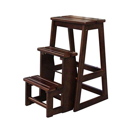 DNSJB Madera Escalera plegable plegable taburete de paso Multi-Uso for hogar y oficina portatil Escalera plegable heces Ligera escaleras de tijera hogar for la cocina Gran Jardin Garaje Oficina campam