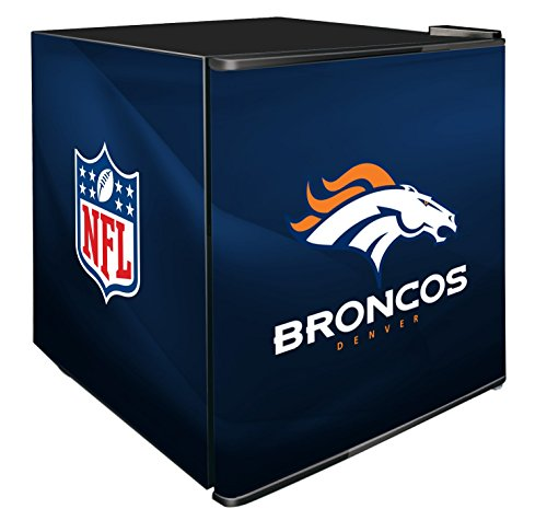 NFL Denver Broncos Refrigerated Counter Top Cooler, Small, Blue by SG Merchandising Solution