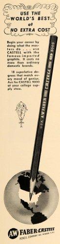 1951-ad-faber-castell-9000-pencil-office-graphite-tool-original-print-ad