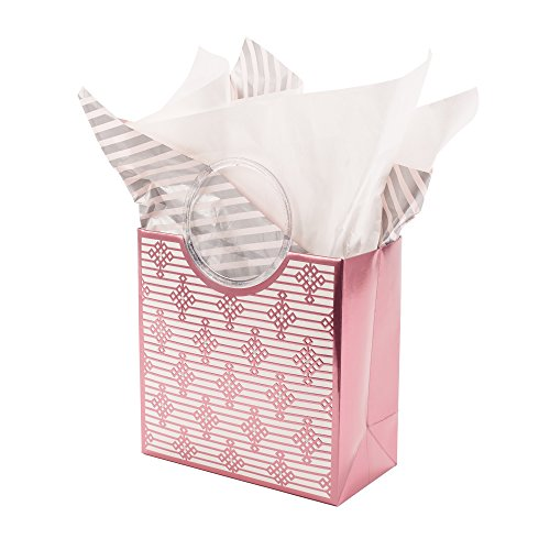 Hallmark Signature Medium Gift Bag with Tissue Paper (Pink Geometric)