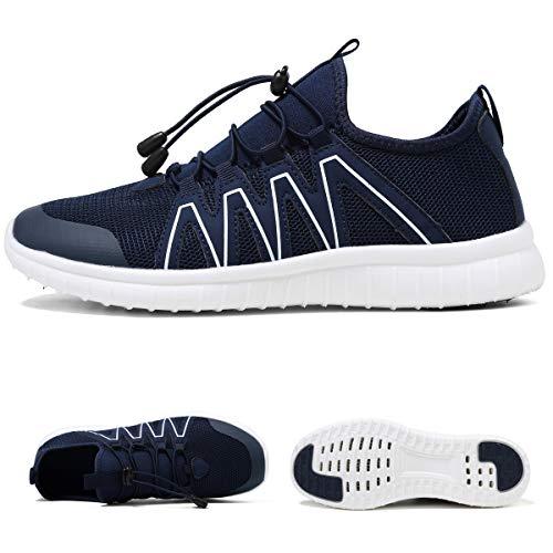 Water Sport Shoes Mesh Slip On Lightweight Quick Drying Blue Aqua Shoes Men Size 8.5 M