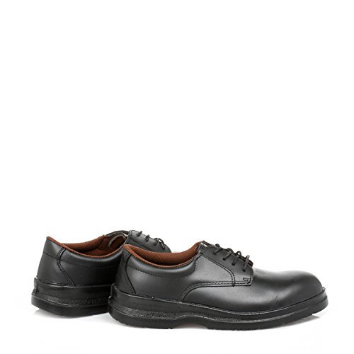 Grafters Hommes Noir Steel Plain Gibson Safety Chaussures