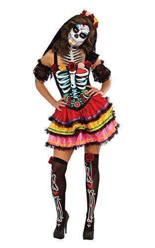 [Rubie's Costume Co Women's Day Of The Dead Senorita Costume, Multicolor, Small] (Womens Day Of The Dead Costume)