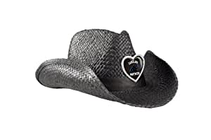 NFL Carolina Panthers Women's Crystal Cowgirl Hat, Black