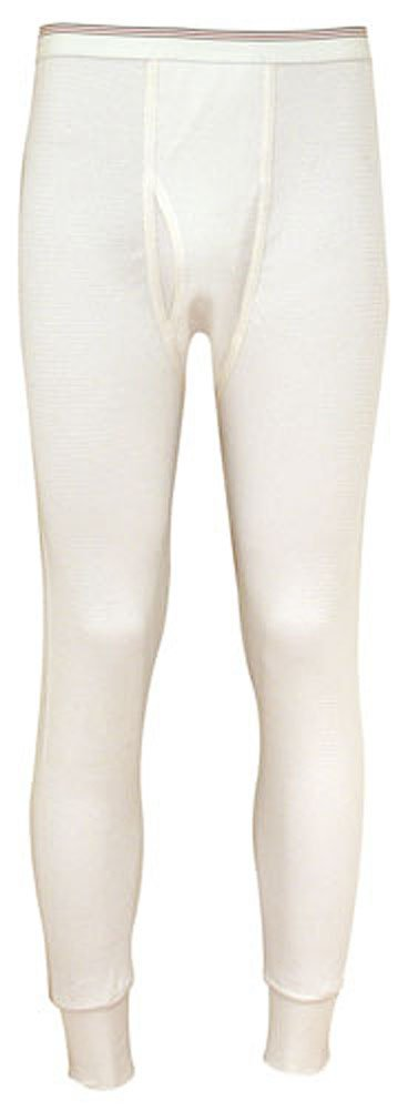 Indera - Mens Big Raschel Knit Thermal Long John Pant, Natural, 880DR 19250-XXX-Large