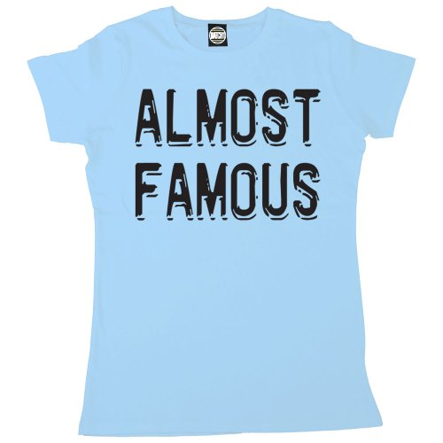 Batch1 Women's Almost Famous Celebrity Fame Printed T-Shirt X-Large Light Blue (Fame Light T-shirt)