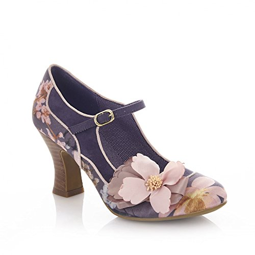 Ruby Shoo Women's Slate Floral Madelaine Mary Jane Pumps UK 5 EU 38 - Divine Ankle Strap Pumps