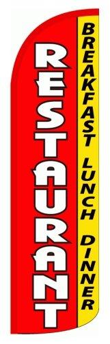 """RESTAURANT - BREAKFAST LUNCH DINNER X-Large """"WINDLESS"""" Swooper Flag"""