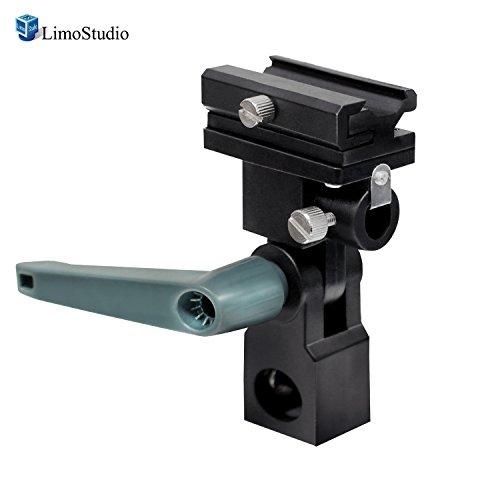 LimoStudio Photo Video Studio Flash Hot Shoe Mount Adapter Trigger Umbrella Holder Swivel Light Stand Bracket, AGG2788