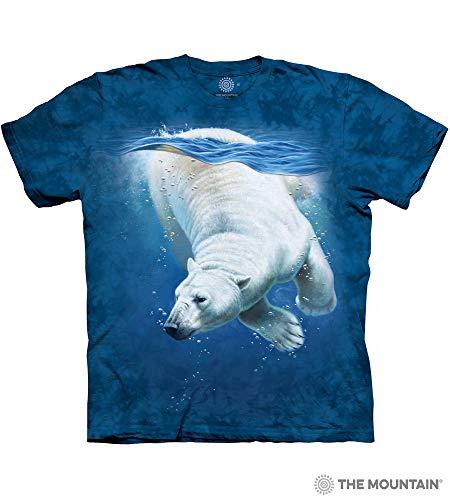 - The Mountain Polar Bear Dive Adult T-Shirt, Blue, Medium