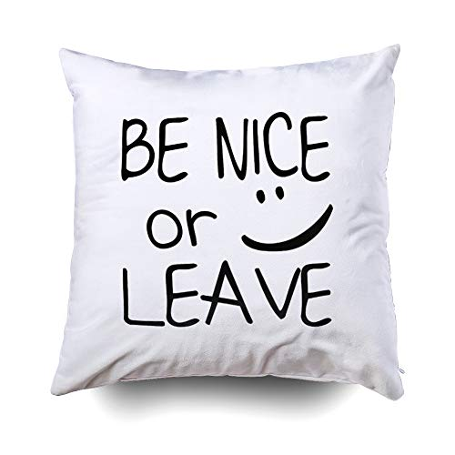 Musesh Christams Nice Leave Funny Cushions Case Throw Pillow Cover for Sofa Home Decorative Pillowslip Gift Ideas Household Pillowcase Zippered Pillow Covers 16X16Inch
