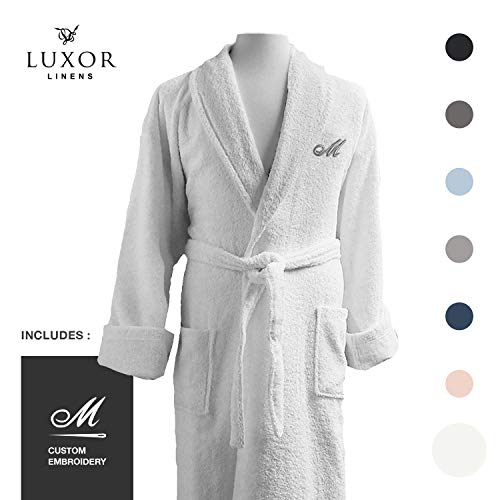 Luxor Linens - Terry Cloth Bathrobe in a Variety of Colors - 100% Egyptian Cotton - Luxurious, Soft, Plush Durable Robe - ()