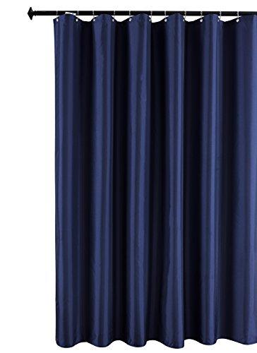 Biscaynebay Fabric Shower Curtain Liner, Waterproof Water Resistant Bathroom Curtain Liner, 72 X72, Navy