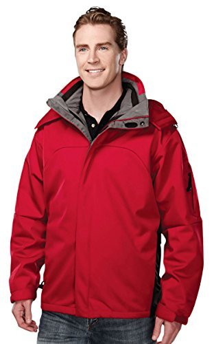 Bonded Shell Color - Men's Washington bonded soft shell 3-in-1 jacket, Color: Red, Size: Large