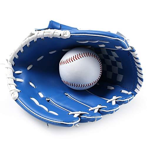 WLSTT Baseball Gloves, Thicken Softball Baseball Gloves Child Junior Adult Full Infield Pitcher Baseball Gloves Left Hand (Color : Blue)