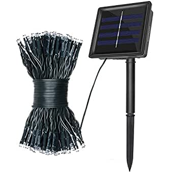 Warmoon Solar LED String Lights, 72ft 200 LEDs 8 Modes Waterproof Ambiance lightingfor Outdoor, Home, Parties Decoration etc.(RGB)
