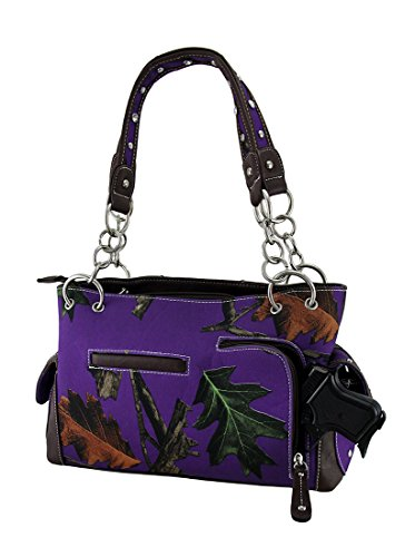 Purple Forest Forest Cross Filigree Camouflage Handbag Carry Purple Concealed Brown qOfdO