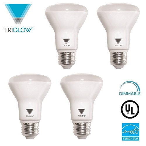 Horton Aluminum Bases - TRIGLOW T99205 7-Watt (50-Watt) R20 Indoor Flood LED Dimmable Light Bulb, Soft white, 550 Lumens, 4-Pack