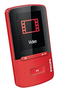 "Philips GoGEAR ViBE - Reproductor de MP4 (4 GB, pantalla de 1.8"", Radio FM), rojo"