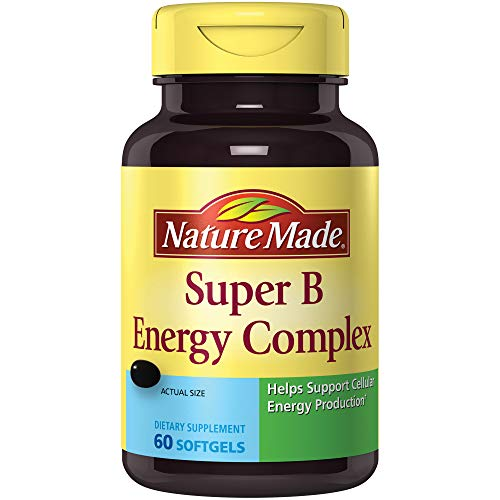 Nature Made Super B Complex Full Strength Softgel, 60 Ct (Formula Vitamin B-complex)