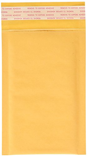 EcoSwift 100 Size #0000 4x6 Small Kraft Bubble Mailers Self Sealing Bulk Padded Shipping Supplies Packaging Materials Envelopes Bags 4 x 6 inches ()