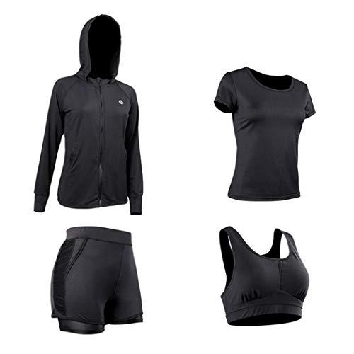 Fitness Donna Da Pezzi Bambù Fibra Di In E Sportswear Nera B Set Sportivo Yongyong Primavera Autunno 4 Estate Yoga Black 7nA0pwqYnv