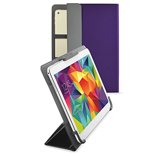 Valkit Tablet Cases 9 Inch, Tablet Cover 10.1 Inch, Universal 9 10 Inch Tablet Folio Leather Stand Smart Case Covers for Andriod Windows Tablet ASUS, Acer,RCA,Dell, HP, Nexus, Galaxy Tab, Purple