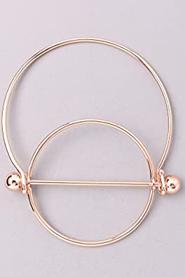 Available in 2 Colors Circle and Barbell Bar Fashion Bangle Bracelet for Women and Teens Davana Enterprises