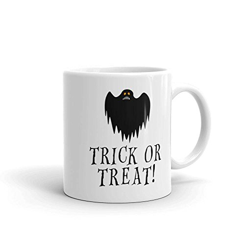 Trick or Treat Coffee Cup Just in Time For Halloween Ghost Coffee Mug Ghost Ghouls or Goblins Spooky Halloween Coffee MugsWoodland Crew