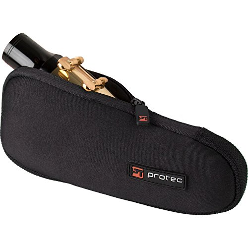 Baritone Saxophone Neoprene Mouthpiece Pouch with Zipper Closure - Black, Model N277