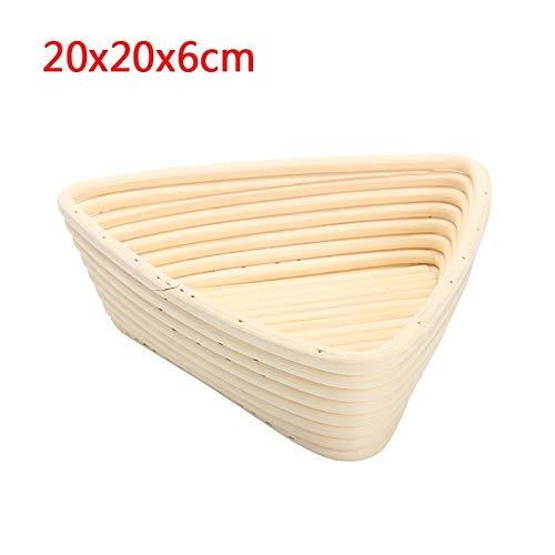 Banneton Proofing Basket - Size Triangle Dough Fermentation Rattan Basket Banneton Brotform Bread Proofing Proving Basket Bread Rattan Basket With Bag - by SHA - 1 PCs by SHA (Image #2)