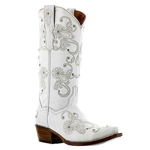 high-quality Cowboy Professional - Women\'s I Do White Western Bridal ...