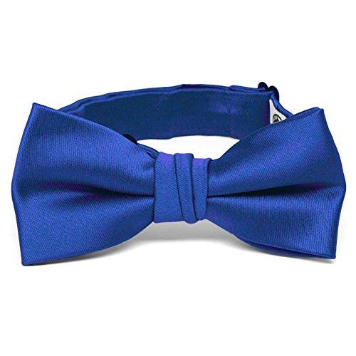 TieMart Boys' Horizon Blue Premium Bow Tie ()