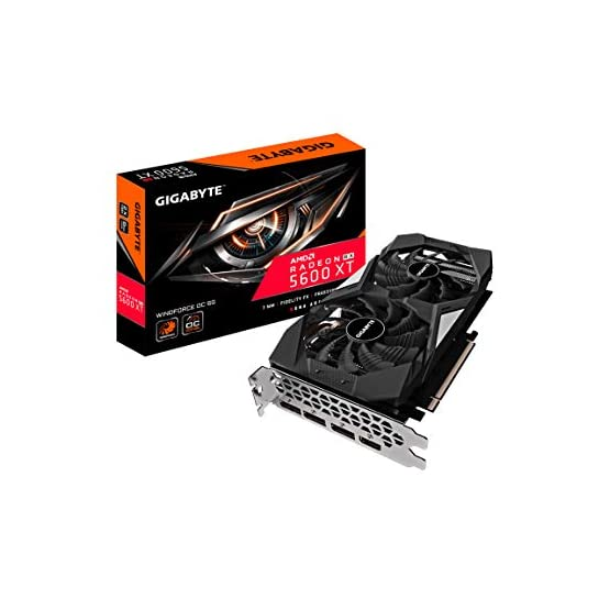 Gigabyte Radeon RX 5600 XT WINDFORCE OC 6G Graphics Card, 3X WINDFORCE Fans, 8GB 192-Bit GDDR6, GV-R56XTWF2OC-6GD Video… 41RvWJyr%2BEL. SS555