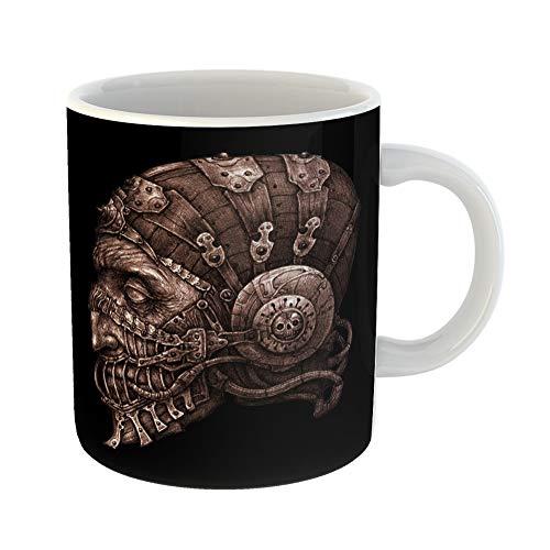 Emvency Funny Coffee Mug Fantastic Character in Helmet