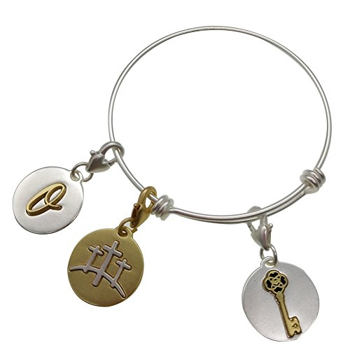 """elet Adjustable Vintage Bangle Key""""Embrace Change"""" Move The Way Will Open Gift Women Girl Sister Mother Friends 620Q ()"""