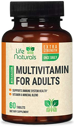 Multivitamin for Men and Women Once Daily Multi with Vitamins A, C, D, B1, B2, B3, B6, B12, Pantothenic Acid and Calcium…