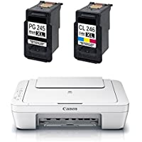 Canon PG-245 / CL-246 Ink Bundle Includes Canon PIXMA MG2522 AIO Printer
