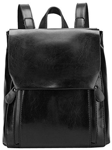 Coofit Frauen Öl und Wachs Leder Rucksack Damen Umhängetasche Reißverschluss Handtasche Tasche Reisen