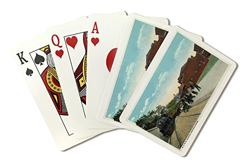 Augusta, Maine - Maine Central Railroad Station View (Playing Card Deck - 52 Card Poker Size with Jokers)