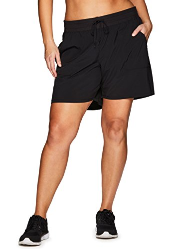 RBX Active Plus Size Relaxed Fit Breathable Ventilated Athletic Short,Black,1X Plus