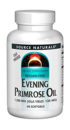 (Source Naturals Evening Primrose Oil 1350mg (135mg GLA) Cold-Pressed, Hexane-Free Fatty-Acid Gamma-Linolenic & Linoleic Acid - 60 Softgels)