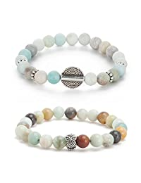 Counting Stars Lava Rock Beads Men Women Lava Rock beaded Bracelet Chakra Bracelet healing energy gemstone bracelet Stretch