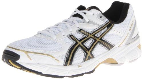 ASICS Men's Gel-180 TR-M, White/Black/Gold, 10.5 M US