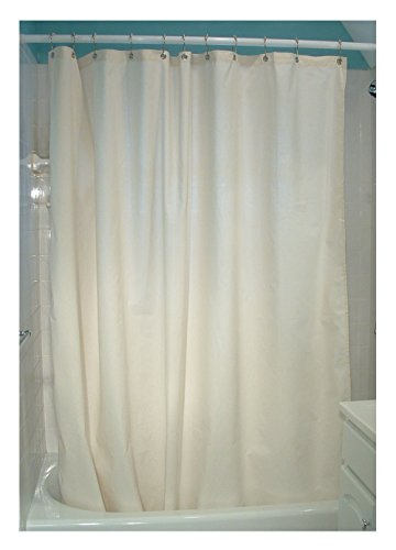Bean Products Natural Cotton Shower Curtain 7 oz. Duck Fabric - Made in USA 70