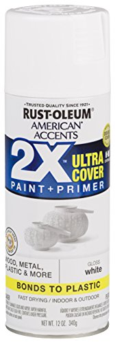 Rust-Oleum 327874 American Accents Spray Paint, 12 oz, Gloss White
