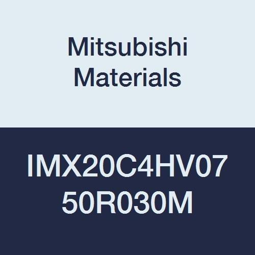 4 Flutes 0.750 Flute Length No Coolant Hole High Helix 0.030 Corner Radius Mitsubishi Materials IMX20C4HV0750R030M iMX-C4HV IMX20 Carbide Corner Radius End Mill 0.750 Cut Dia